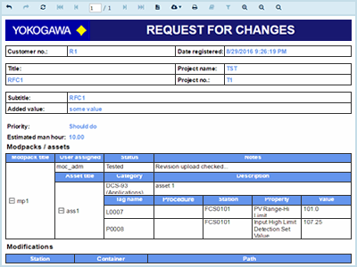 Project asisoft management of change for yokogawa 3